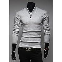 GS~LY Maglioni uomo MEN - Top e blouse - Informale/Lavoro Cotone , light gray , xl