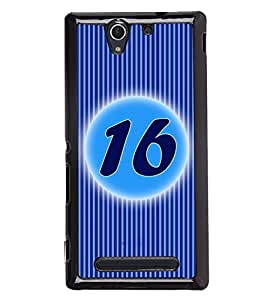 Fuson 2D Printed Numerology Designer back case cover for Sony Xperia C3 D2533 - D4234