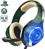 Auriculares Gaming para PS4 Xbox One Nintendo Switch, Beexcellent GM-100 Cascos Gaming con Sonido Envolvente y Reducción...