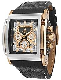 Burgmeister BM150-322 - Reloj cronógrafo de cuarzo para hombre con correa de piel, color negro