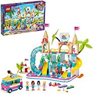 LEGO Friends Summer Fun Water Park 41430 building set with 4 mini-dolls, hot tub and accessories, Toy for Kids