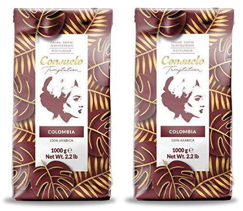 Café de Colombia en grano Consuelo, 2 paquetes de 1 kg
