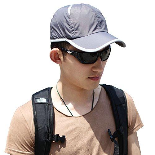 SIGGI blau schnell-trocknend Baseball Sonnen Sport Cap mit UV SPF 50 +Schutz