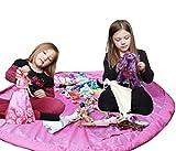 PYRUS Giocattolo creativo sacchetto pieghevole di immagazzinaggio acciaio impermeabile Picnic Mat Organizer Kid portatile Lego Playmat Big picnic materassino da campeggio borsa rosa