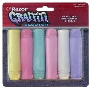 Razor 35073191 - Juego de 6 tizas para patinete Razor Graffiti