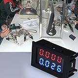 0,28 Zoll Digital DC 4 Bit DC 100V 10A Voltmeter Amperemeter Spannung Stromzähler