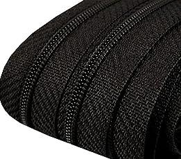 5m Reißverschluss endlos 3mm spiralförmig + 15 Zipper #332 schwarz(0,79€/m)