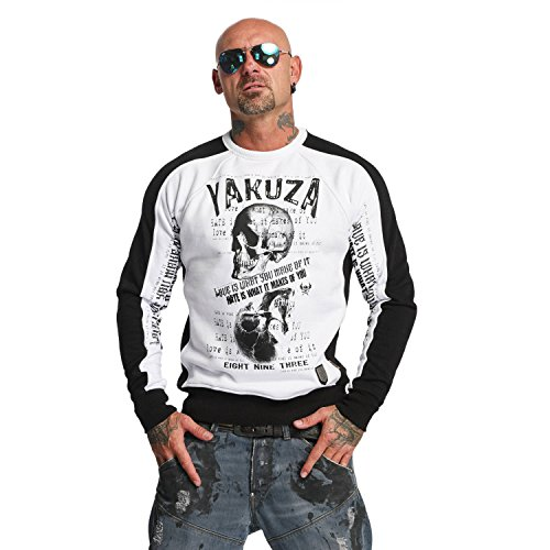 Yakuza Original Herren Love Hate Two Face Pullover Sweater (Clothing Crew Stores)