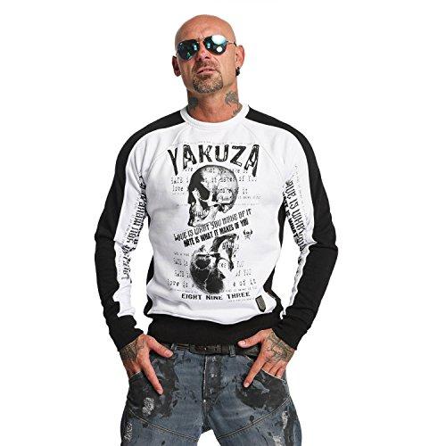 Yakuza Original Herren Love Hate Two Face Pullover Sweater (Stores Clothing Crew)
