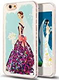 iPhone 6S Case,NSSTAR iPhone 6S/6 Bride Wedding Dress Design Quicksand Liquid Glitter Flowing Floating Liquid Bling Sparkle Glitter Star 2IN1 Hard TPU Bumper Case for Apple iPhone 6S/iPhone 6,Hot Pink