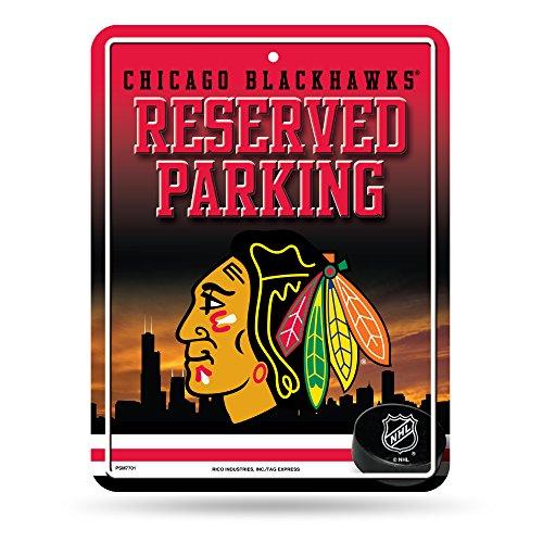 Unbekannt NHL Abonnements Metall Parken Schild, Herren, Chicago Blackhawks -