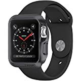 [Sponsored]Spigen Slim Armor Case For Apple Watch (38mm) (SERIES 3/ SERIES 2/ SERIES 1) Case / Cover (SMALLER VERSION) (APPLE WATCH NOT INCLUDED) - Space Gray 058CS22562