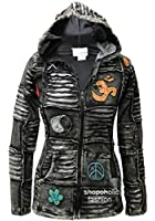 Shopoholic Fashion Women 100% Soft Cotton Emo Punky Gothic Hoodie Jacket
