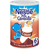 Nestlé Bébé P'tite Céréale Cacao - Céréales Déshydratées dès 6 Mois - Boîte de 400g - Lot de 4
