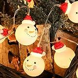 XuBa Lichterkette LED Weihnachten Schneemann Form String Licht für Hausgarten Party Weihnachtsdekoration