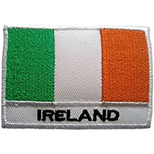 Parches - Irlanda bandera - blanco - 5,3x7,6cm - termoadhesivos bordados aplique para ropa