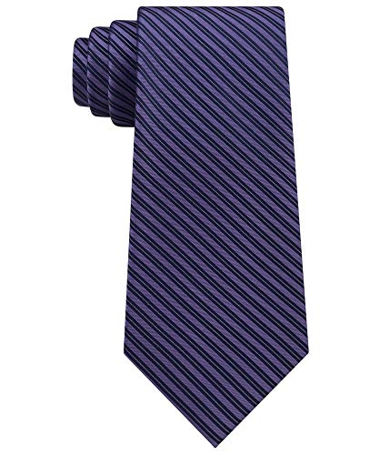 Calvin Klein Mirror Pinstriped Men's Silk Woven Neck Tie