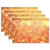Wamika Ahorn-Tischset, Bunte Rote Herbstblätter, Rutschfest, fleckenabweisend, 30,5 x 45,7 x 2,5 cm, 1 Stück 12x18x1 in Mehrfarbig
