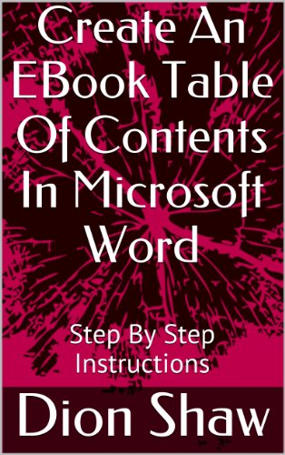 Create An EBook Table Of Contents In Microsoft Word: Step By Step ...