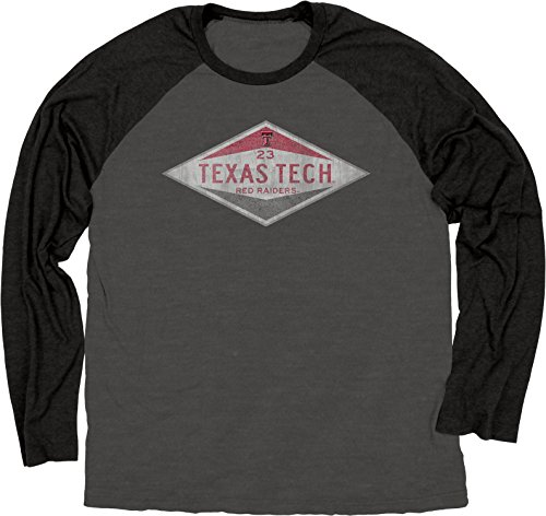 Blue 84 NCAA Texas Tech Red Raiders Raglan-T-Shirt, langärmlig, Größe XXL, Schwarz -