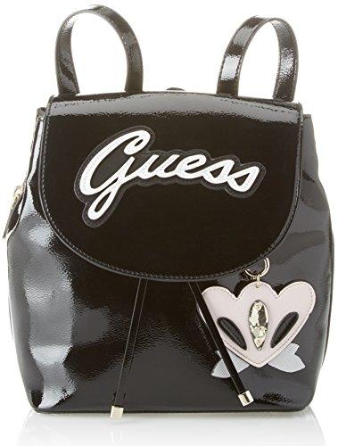 Guess Bags Hobo, Sacs portés dos femme, Noir (Black Shine), 13.5x29x27 cm (W x H L)