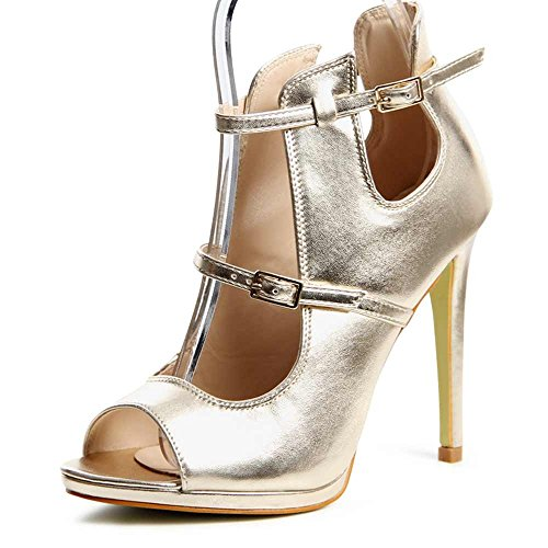 Topschuhe24, Talons Pour Femmes Or (or)