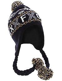 Unisex Fairisle Pattern Oxford Peruvian Winter Hat