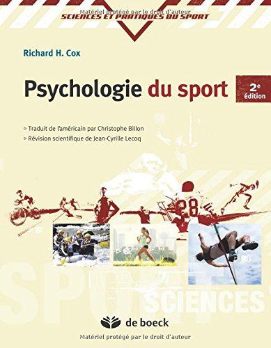 Psychologie du sport par Richard H. Cox
