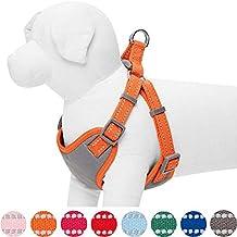 Umi. by Amazon - pettorina per cani regolabile e catarifrangente, taglia M, circonferenza petto 56-66 cm, colore pastello zucca