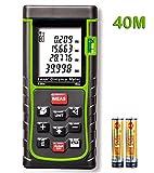 KINGTOP Télémètre Laser avec Affichage Professionnel Laser de Mesure de Distance avec Certification CE ROHS FCC Plage de Mesure 0,05 ~ 40m