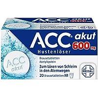 Preisvergleich für ACC akut 600 mg Hustenlöser, 20 St. Brausetabletten
