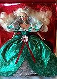 BARBIE HAPPY HOLIDAYS boite vitrine de NOEL ROBE DE BAL VERTE - poupée blonde neuve, boite vitrine neuve - MATTEL 1995