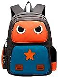 Freitop Schulrucksack Cartoon Roboter Muster ab 4 Jahre Schulranzen Großer Rucksack Kindergartenrucksack Schultasche für 4-12 Jahre Kinder Teenager Mädchen Jungen 1-9 Klasse Schüler Grundschule