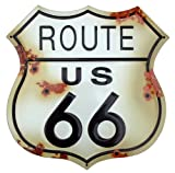 Route 66 Schild verwitterten Blechschild (shot at) sf