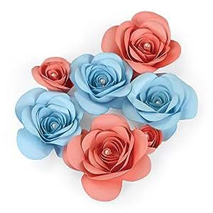 Fustella fustelle Big shot plus pro Fiore fiori Rosa rose 3D 660831 cut emboss stencil carta cartoncino Ellison