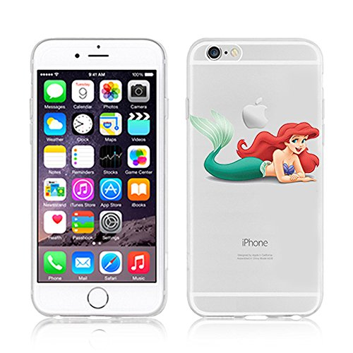 NEW DISNEY PRINCESSES TRANSPARENT CLEAR TPU SOFT CASE FOR APPLE IPHONE 7 - MULAN ARIEL 3