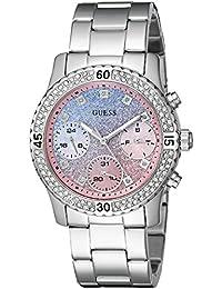 guess watches outlet 8o60  GUESS Women's Steel Bracelet & Case Quartz Blue Dial Chronograph Watch