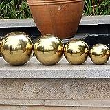 Yunhigh Mirando la Bola, Bola de Espejo de Bola de Acero Inoxidable de 20 cm Bola Esfera de Metal Hueco Bola de Oro Decorativo Ornamento de jardín en casa