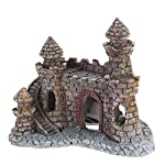 Rcool Home Aquarium Fish Tank Ornament Cartoon Resin Castle Tower Landscape Underwater Decoration(12 * 10 * 6 cm) 7