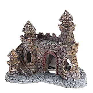 Rcool Home Aquarium Fish Tank Ornament Cartoon Resin Castle Tower Landscape Underwater Decoration(12 * 10 * 6 cm) 18