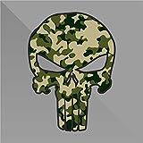 erreinge Sticker Camouflage Punisher Teschio Skull Crâne Cráneo Schädel - Decal Auto Moto Casco Wall Camper Bike Adesivo Adhesive Autocollant Pegatina Aufkleber - cm 10