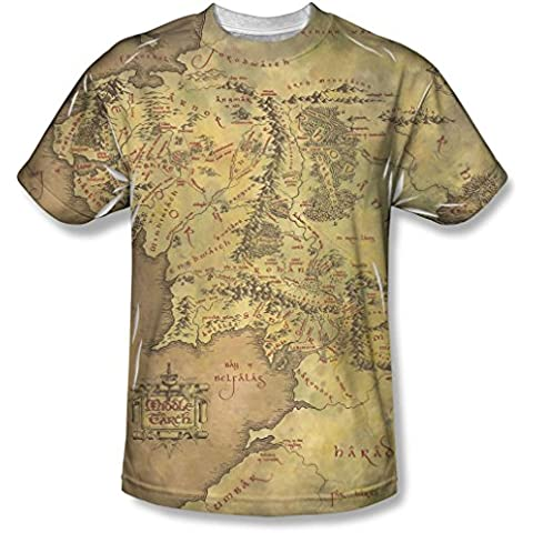 Lord of the Rings - Señor de los Anillos - Mapa Juventud Tierra Media camiseta