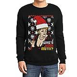 Geiler Hässlicher Weihnachtspullover mit Angie - Who's Your Mutti? Sweatshirt X-Large Schwarz