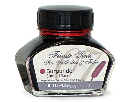 Feinste Premium Schreibtinte für Füllhalter und Schreibfedern, Burgunder 30ml