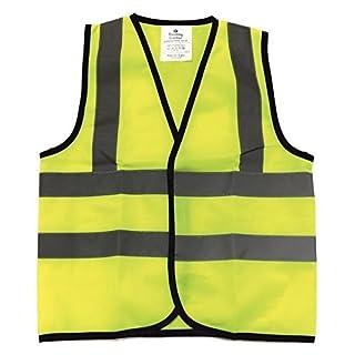 Kids High Visibility Hi Viz Safety Vest Top Hi Vis Baby Waistcoat Childrens 2-3 years Yellow (1)