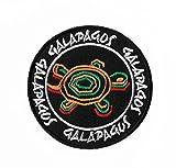 Galapagos-Inseln Turtles Patch Embroidered Iron on Badge Schildkröte Aufnäher Reisen Souvenir DIY Tasche Rucksack T-Shirt Jacke Gepäck
