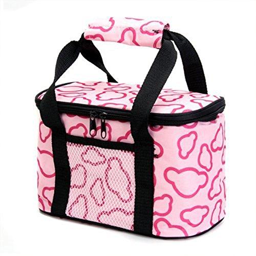 jooks Isolierte LunchBox Bag Lunch Tasche Wasser Proof Picknick Tasche Kühler Tasche Thermo Kühltasche Taschen Pink