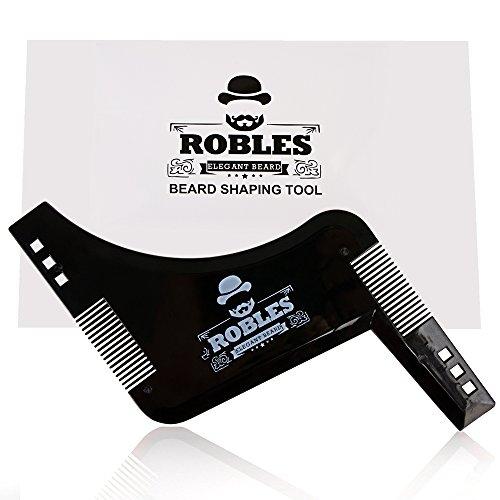 ROBLES Peigne Pochoir Barbe barbe peigne pochoir pour le contour de la barbe Garantie...