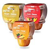 #5: Happa Organic Baby Food, Favourite Fruits Variety Pack (Apple+ Mango, Mango + Banana, Apple + Banana), 110gram tubs, Pack of 6