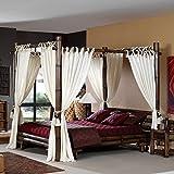 Möbel Bressmer Bambus Himmelbett TABANAN negra 160x200